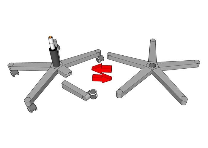 Как заменить крестовину на кресле - Stels-benelli.RU
